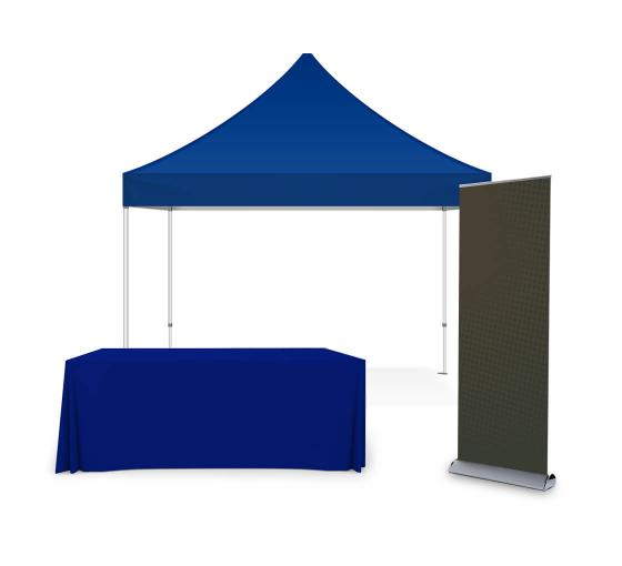 Portable Canopy Tent with Rollup Stand & Table Cover