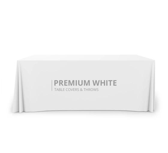 Premium White Table Covers & Throws