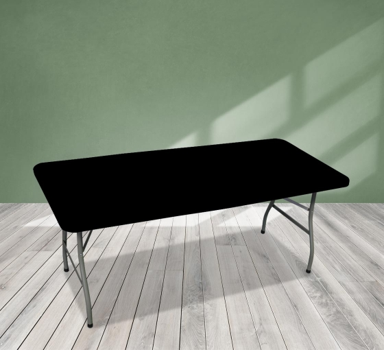 6' Rectangle Table Toppers - Black