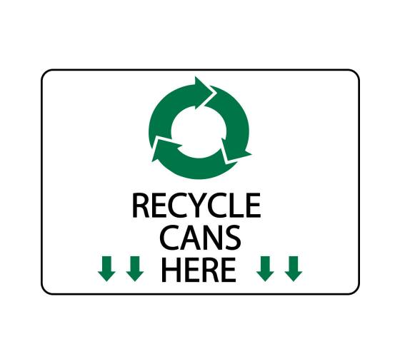Recycle Cans Here Sign