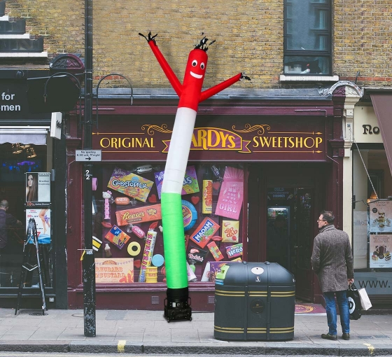 Red White Green Inflatable Tube Man