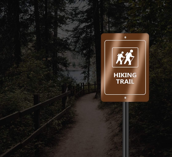 ReflectiveCustom Trail Markers Signs