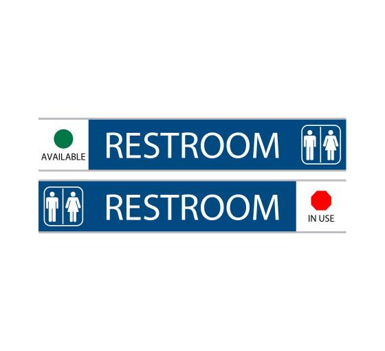 Restroom With Symbol Sign