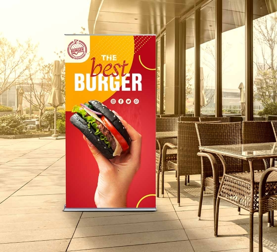 Silverstep 36'' Retractable Banner Stand