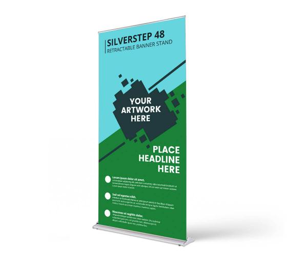 Silverstep 48'' Retractable Banner Stand