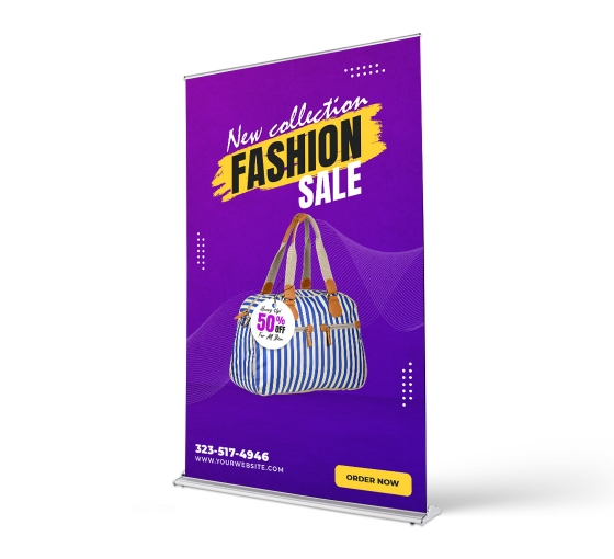 Silverstep 60'' Retractable Banner Stand