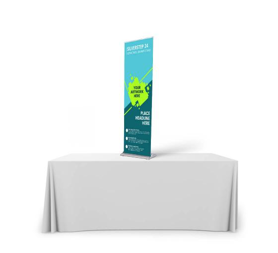 Silverstep Tabletop 24'' Retractable Banner Stand