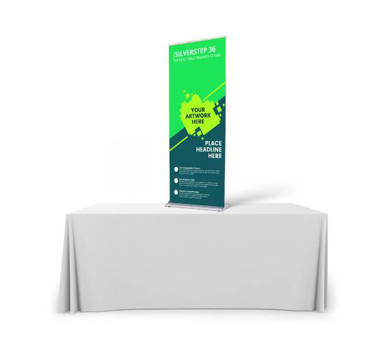 Silverstep Tabletop 36'' Retractable Banner Stand