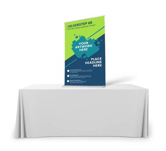 Silverstep Tabletop 60'' Retractable Banner Stand