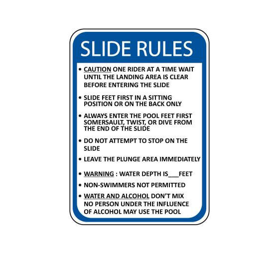 Slide Rules Caution Sign