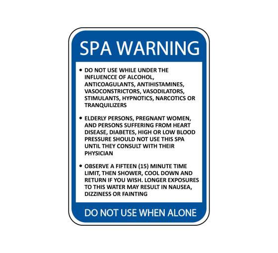 Spa Warnings Sign
