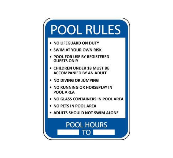 Swimming Pool Rules Sign