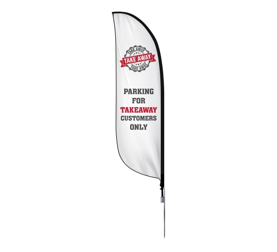 Pre-Printed Parking for Takeaway Feather Flag