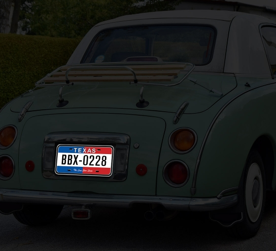 Reflective Texas License Plates
