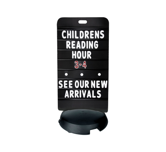 Tip-'n-Roll Message Board Black