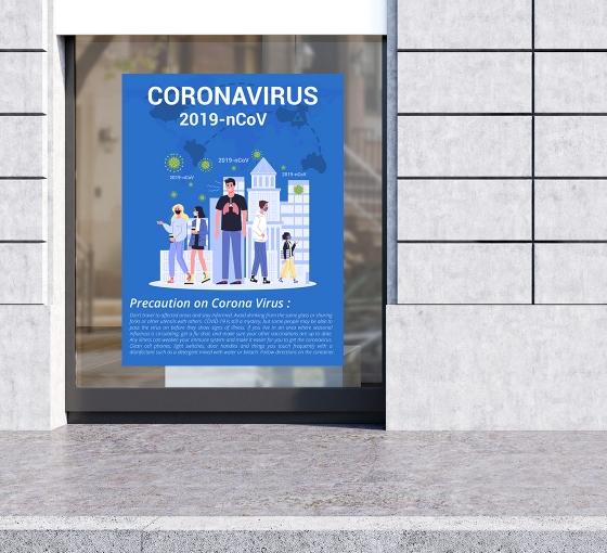 Vinyl Precaution Posters