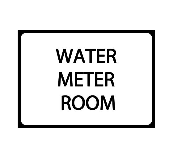 Water Meter Room Sign