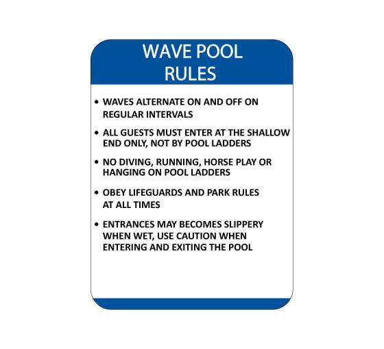 Wave Pool Rules Sign