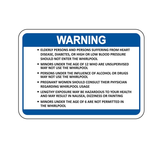 Whirlpool Warning Sign