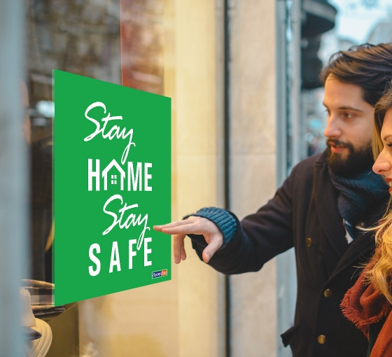 Free Stay Home Stay Safe Window Signs