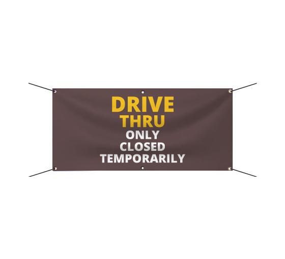 CGSignLab No Parking Basic Navy Wind-Resistant Outdoor Mesh Vinyl Banner 8x8